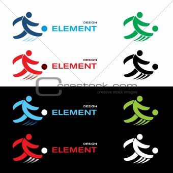 Football design elements.