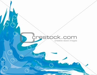 Abstract background with water and bubbles