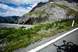 Mountain bike trail in the Alps