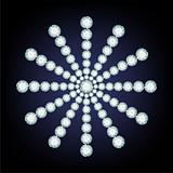 Snowflake made from diamonds.