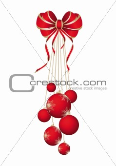 Baubles Isolated Over White