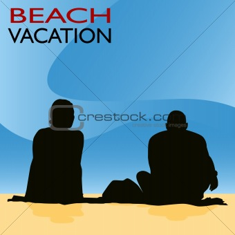 Couple Beach Vacation