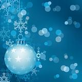 Blue Christmas Ball Background