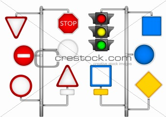 Forms for a road signs