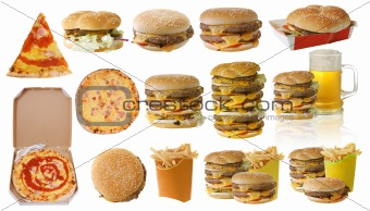 Assortment of fast food