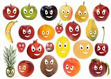 Happy fruit smileys