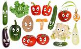 Happy vegetable smileys