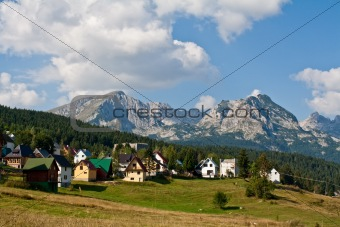 City in the mountains of Montenegro (Crna Gora), Zabljak