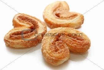 Three sweet cookies with cinnamon
