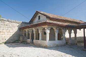 Ancient house in Chufut-Kale, Crimea