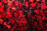 Red Bubbles of Oil Background