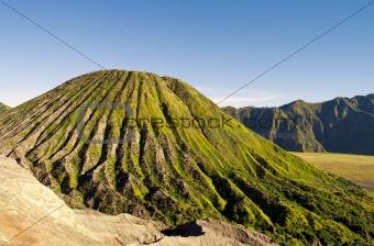 Green active volcano