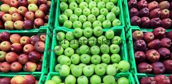 apple at a farmer's market