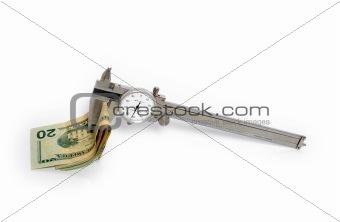 Caliper with cash