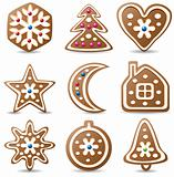 nine gingerbread cookies