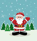 xmas illustration of santa