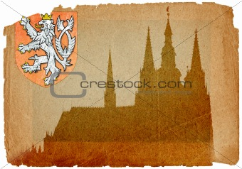 Prague castle and Cathedral of St Vitus