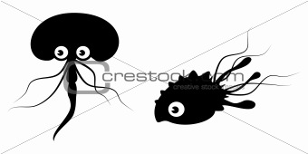 bacteria worms vector collection