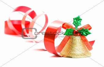 Christmas bell isolated on the background