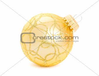 christmas balls isolated on the background