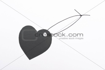 "Black gift tag ""Heart"""