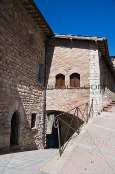 Alleyway. Gubbio. Umbria.