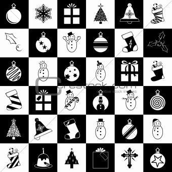 Christmas Clip Art. Vector illustration