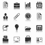 Office and business icons - white series