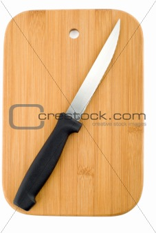 kitchen knife on the chopping board