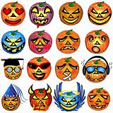 Pumkin Icons Set