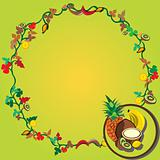 Tropic fruit wreath
