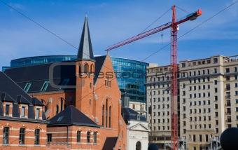 Church in the European Quarter in Brussels