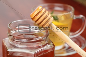 Pouring honey