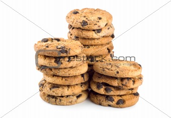 Three stacks cookies