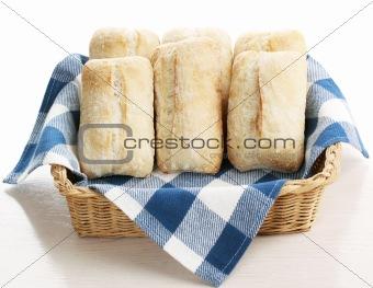 ciabatta bread in basket