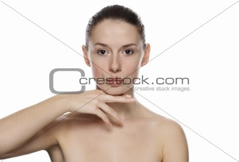 Portrait of young beautiful serene girl