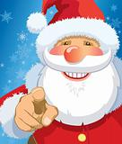 Santa Claus pointing