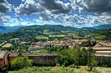 Panoramic view of Spoleto. Umbria.