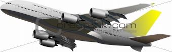 Airplane flight. Vector illustration