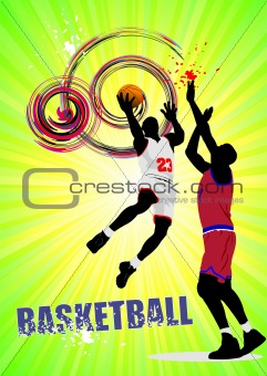 Basketball poster. Vector illustration