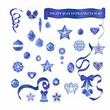 Blue decorative set