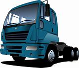 Vector illustration of blue  truck