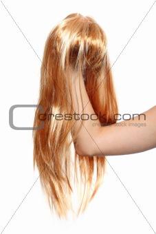 Blond wig