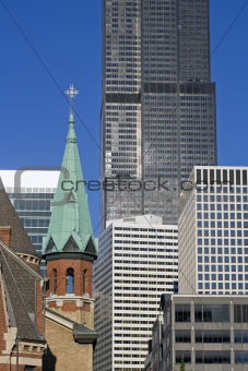 Cathedral downtown Chicago
