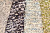 Set of mottled textiles