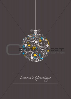 stylized christmas bauble
