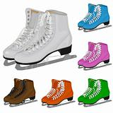 The set women's figure ice skate