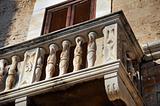 Historical balcony. Bisceglie. Apulia.