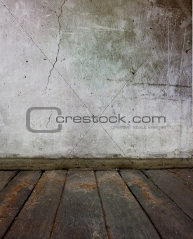 old floor and wall