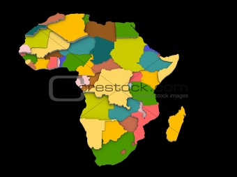 a illustration of the africa map and countries